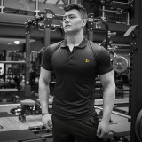 Dry-Fit Black Polo
