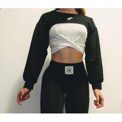 WU&S Bluza Krótka czarna damska Testosterone.pl V2
