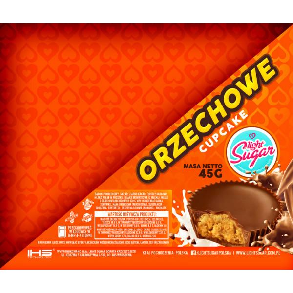 Baton Premium Cupcake Resees - Orzechowy