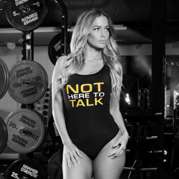 Women Bodysuit NOT HERE TO TALK