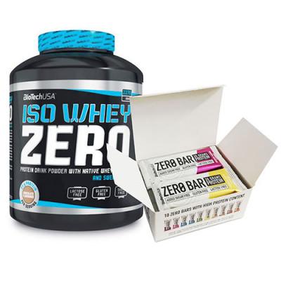 Biotech Iso Whey Zero (2270g) + Zero Bar Box (10x50g) [GRATIS]