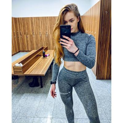 Legginsy Testosterone.pl TEAM Push-UP (SZARE) serduszka