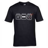 Koszulka EAT CLEAN SLEEP WELL TAKE PILLS