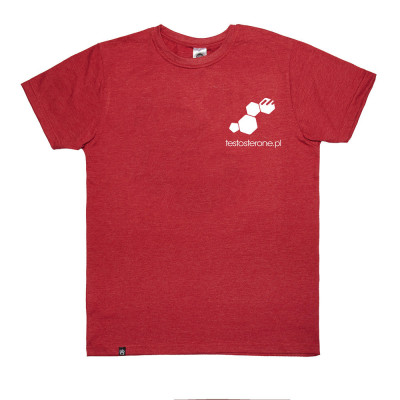T-shirt Logo Testo WU&S Red