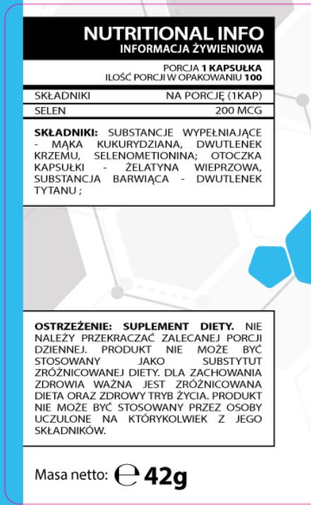 Testosterone.pl Selenium 100caps - Selen właściwości - Selen Testosterone.pl - Sklep